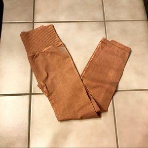Free People Pants - Free People Leggings XS/S in Desert Dune